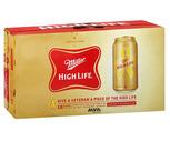 Miller High Life or Pabst 18 Pack or Keystone Light 15 Pack