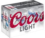 Coors Light, Budweiser or Bud Light 24 Pack
