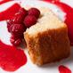 Lemon-Vanilla Bean Canola Oil Pound Cake With Raspberry Sauce