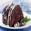 Double Glazed Rum Raisin Chocolate Cake