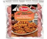 Tyson Frozen Chicken Wings or Boneless Chicken Breasts