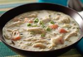 Turkey and Wild Rice Creamy Dijonnaise Soup