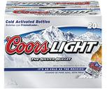 Coors Light or Budweiser 20 Pack