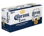 Corona Extra or Heineken 18 Pack