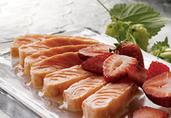 Salmon Tataki with Strawberry Miso