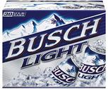 Busch, Busch Light, Pabst Blue Ribbon or Keystone Light 30 Pack