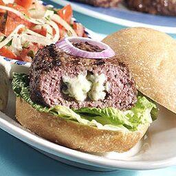Blue cheese stuffed burgers price chopper for Blue cheese burger recipe rachael ray