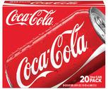 Coca-Cola, Diet Coke or Sprite 20 Pack
