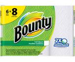 Bounty Paper Towels 6 Big Rolls