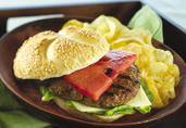 Flash Grilled Watermelon Cheddar Burgers