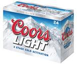 Coors Light, Budweiser or Miller Lite 24 Pack