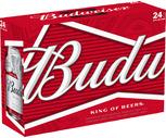 Budweiser or Bud Light 24 Pack