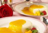 Buttermilk Panna Cotta with Mango Sauce