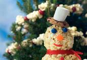 Holiday Popcorn Snowman