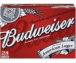 Budweiser or Coors Light 24 Pack
