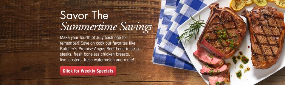Savor the Summer Savings!