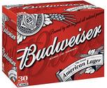 Budweiser, Miler Lite or Coors Light 30 Pack