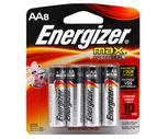 Energizer Max Alkaline Multi-Pack AA or AAA Batteries 8 Pack