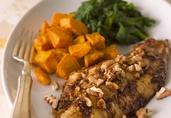 Southern-Style Sweet Bourbon Glazed Catfish with Toasted Pecans