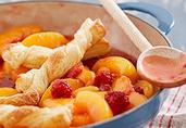 Stovetop Peach-Raspberry Cobbler