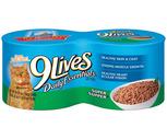 9 Lives Cat Food 4 Pack