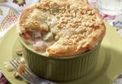 Turkey Brunswick Stew with Puff Pastry Crust