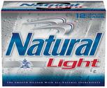 Keystone Light or Natural Light 12 Pack 12 oz. Cans