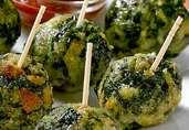 Spinach Balls with Marinara Sauce