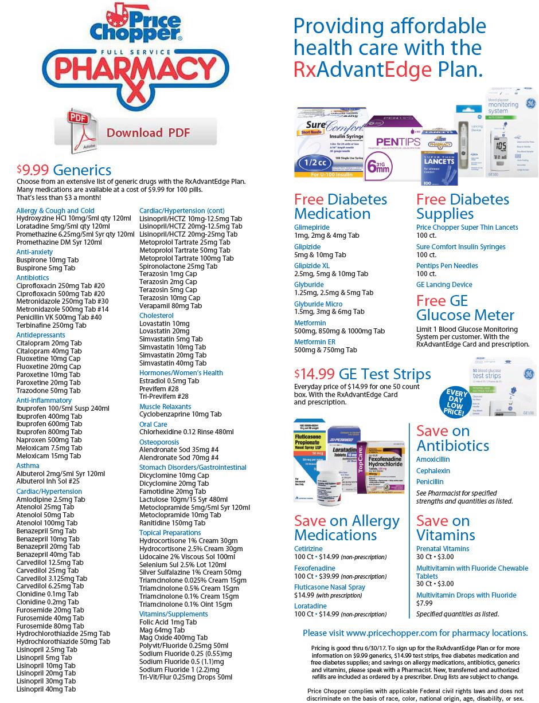Rx AdvantEdge Price List