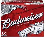 Budweiser or Bud Light 12 Pack