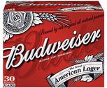 Budweiser or Coors Light 30 Pack