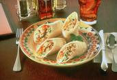 Thai Turkey Wrap with Peanut Sauce