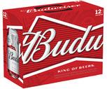 Bud Light or Budweiser 12 Pack
