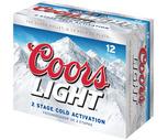 Coors Light or Miller Lite 12 Pack
