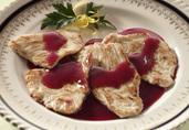 Sautéed Turkey Medallions with Cumberland Sauce