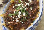 Chilaquiles with California Raisins and Chicken Chorizo