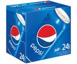 Pepsi, Diet Pepsi, Mtn Dew or Schweppes Ginger Ale 24 Pack