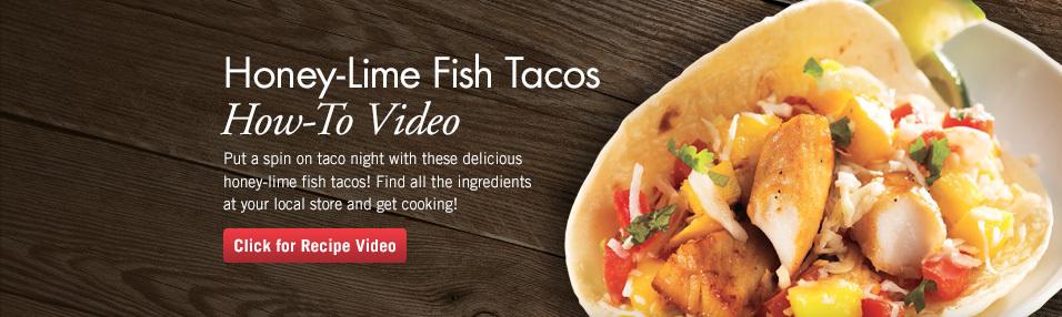 Honey-Lime Fish Tacos
