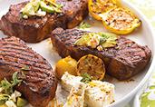 Mediterranean Strip Steaks